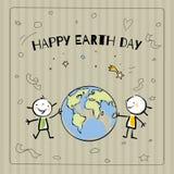 Dia de terra ilustração stock