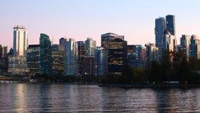 Dia de Timelapse à noite em Vancôver, Columbia Britânica 4K filme