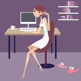 Dia de trabalho em casa ilustração stock