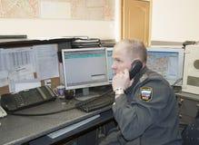 Dia de trabalho no dever do departamento da polícia Fotografia de Stock