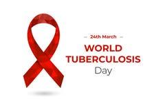 Dia de tuberculose de mundo para a Web e a cópia ilustração royalty free