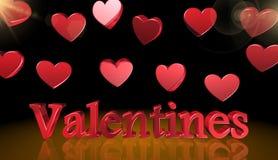 Dia de Valentim, ícone, sinal, a melhor ilustração 3D fotos de stock