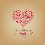 Dia de Valentim com o coração romântico Fotografia de Stock Royalty Free