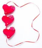 Dia de Valentim - corações vermelhos Imagens de Stock