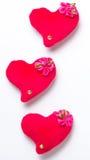 Dia de Valentim - corações vermelhos Fotografia de Stock