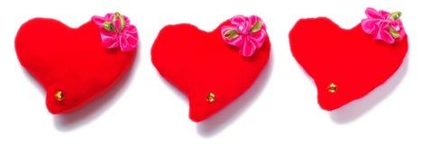 Dia de Valentim - corações vermelhos Imagens de Stock Royalty Free
