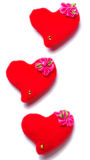 Dia de Valentim - corações vermelhos Fotos de Stock Royalty Free