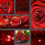 Dia de Valentim da colagem foto de stock royalty free