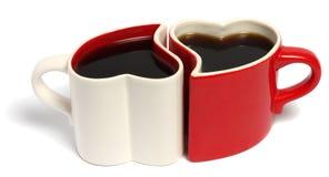 Dia de Valentim de copos de café Imagens de Stock Royalty Free