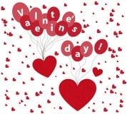 Dia de Valentim do fundo com corações Imagens de Stock