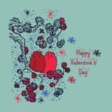 Dia de Valentim dos pássaros Imagens de Stock