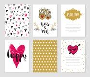 Dia de Valentim e coleção romântica Fotografia de Stock Royalty Free