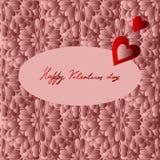 Dia de Valentim feliz, cartão do vetor ilustração royalty free