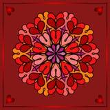 Dia de Valentim feliz, cartão festivo do vetor imagens de stock