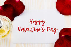 Dia de Valentim feliz com rosas Imagens de Stock