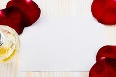 Dia de Valentim feliz com rosas Fotos de Stock Royalty Free