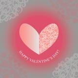Dia de Valentim feliz do coração Imagens de Stock Royalty Free