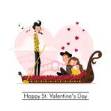 Dia de Valentim feliz do St Imagem de Stock