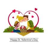 Dia de Valentim feliz do St Fotografia de Stock