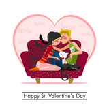 Dia de Valentim feliz do St Imagem de Stock Royalty Free