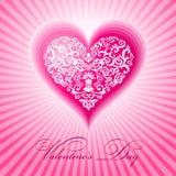 Dia de Valentim floral abstrato do coração Foto de Stock Royalty Free
