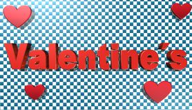 Dia de Valentim, ilustração 3D Foto de Stock