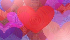 Dia de Valentim, ilustração do coração 3D Imagens de Stock