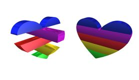 Dia de Valentim, a melhor 3D ilustração, a melhor animação foto de stock