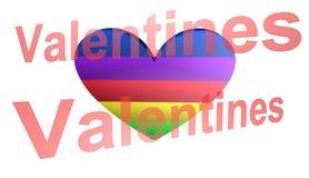 Dia de Valentim, a melhor 3D ilustração, a melhor animação fotografia de stock