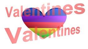 Dia de Valentim, a melhor 3D ilustração, a melhor animação video estoque
