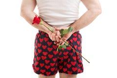 Dia de Valentim - Rosa para ela fotos de stock