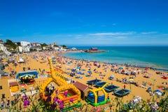 Dia de verão da costa de Broadstairs Kent English imagem de stock