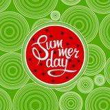 Dia de verão da rotulação Imagens de Stock