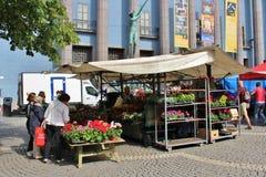 Dia de verão em Hötorget Foto de Stock