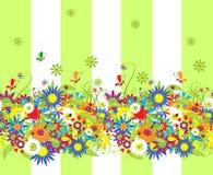 Dia de verão. Fundo sem emenda floral ilustração stock