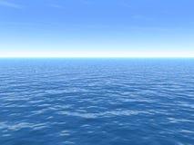 Dia de verão quente desobstruído sobre o mar ilustração royalty free