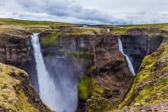 Dia de verão ventoso em Islândia Imagem de Stock