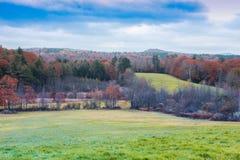 Dia de ver?o de Peacefull em New Hampshire imagem de stock