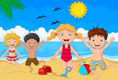 Dia de verão dos desenhos animados Foto de Stock Royalty Free