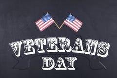 Dia de veteranos e bandeira americana Foto de Stock Royalty Free