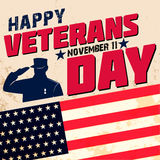 Dia de veteranos feliz Fotografia de Stock