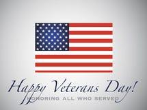 Dia de veteranos feliz Honrando tudo que serviu Fotografia de Stock