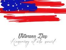 Dia de veteranos Honrando tudo que serviu ilustração do vetor