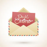 Dia del Cartero - Mailman day spanish text. National Thank A Mailman Day vector card - eps available Royalty Free Stock Photos