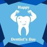 Dia dental Logo Vetora Template Design ilustração stock