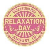 Dia do abrandamento, o 15 de agosto ilustração royalty free
