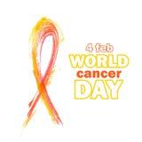 Dia do câncer do mundo foto de stock