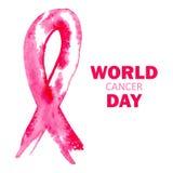 Dia do câncer do mundo Imagens de Stock