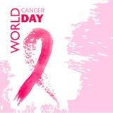 Dia do câncer do mundo imagens de stock royalty free