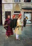 Dia do carnaval da família em Veneza Imagens de Stock